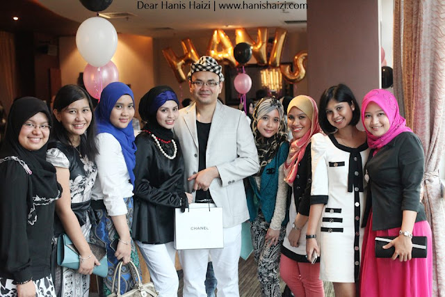 Coco Chanel private party hanis haizi with cdm adibah karimah team