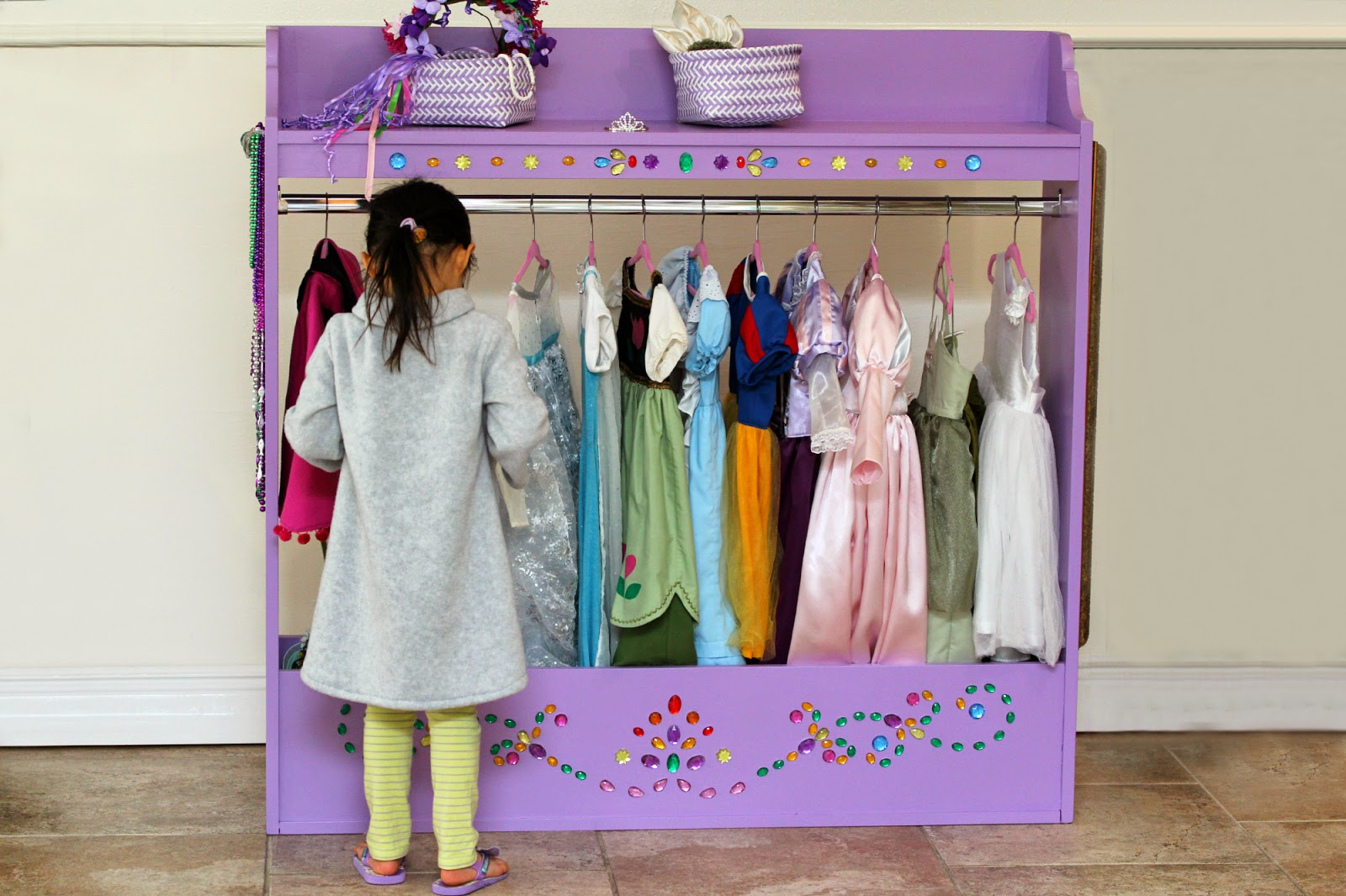 With Momos Princess Dress Collection Expanding I Needed A Storage Solution They Were Taking Up Closet Space And Not Really Easy For Momo To Access