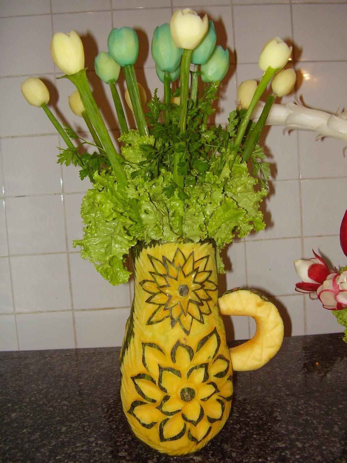 Historia del tallado decoraciones en frutas - Cuchillos para decorar fruta ...