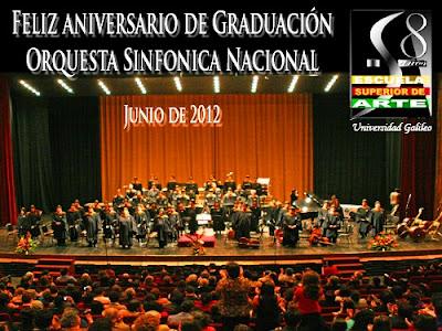 Aniversario de Graduación Orquesta Sinfónica Nacional de Guatemala