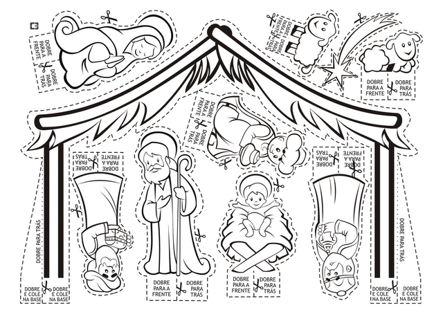 Blog para una Navidad Feliz: Portal de Belén para colorear, recortar ...
