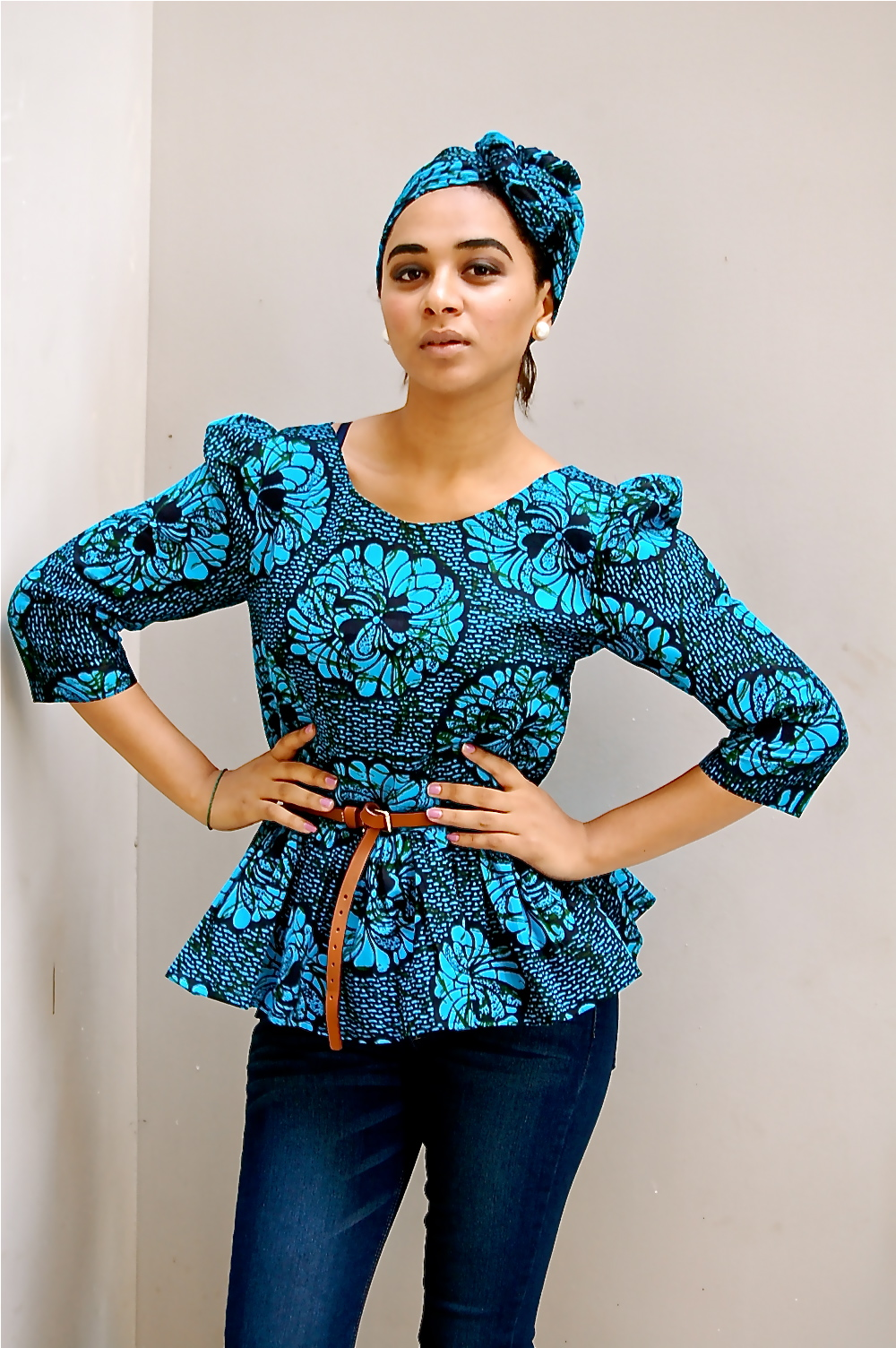 Kiki 39 S Fashion Kitenge Peplum Top N Skinny Jeans Available At Kiki 39 S Fashion