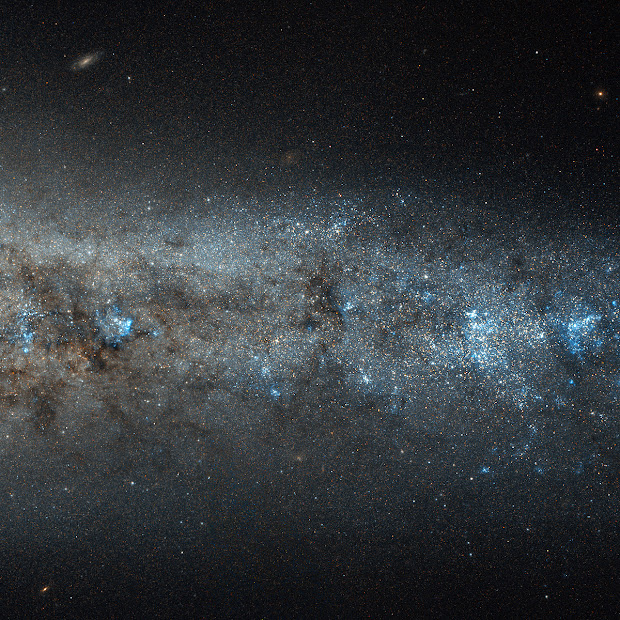 Edge-On Spiral Galaxy NGC 4631 as imaged by Hubble!