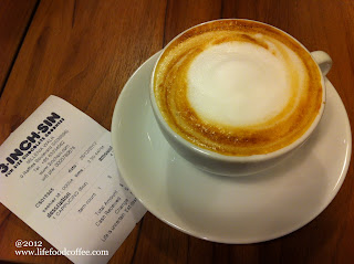 Cappucino from 3 inch sin at Millenia walk