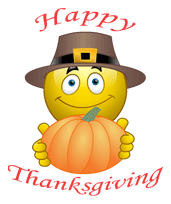 Happy Thanksgiving Emoticon