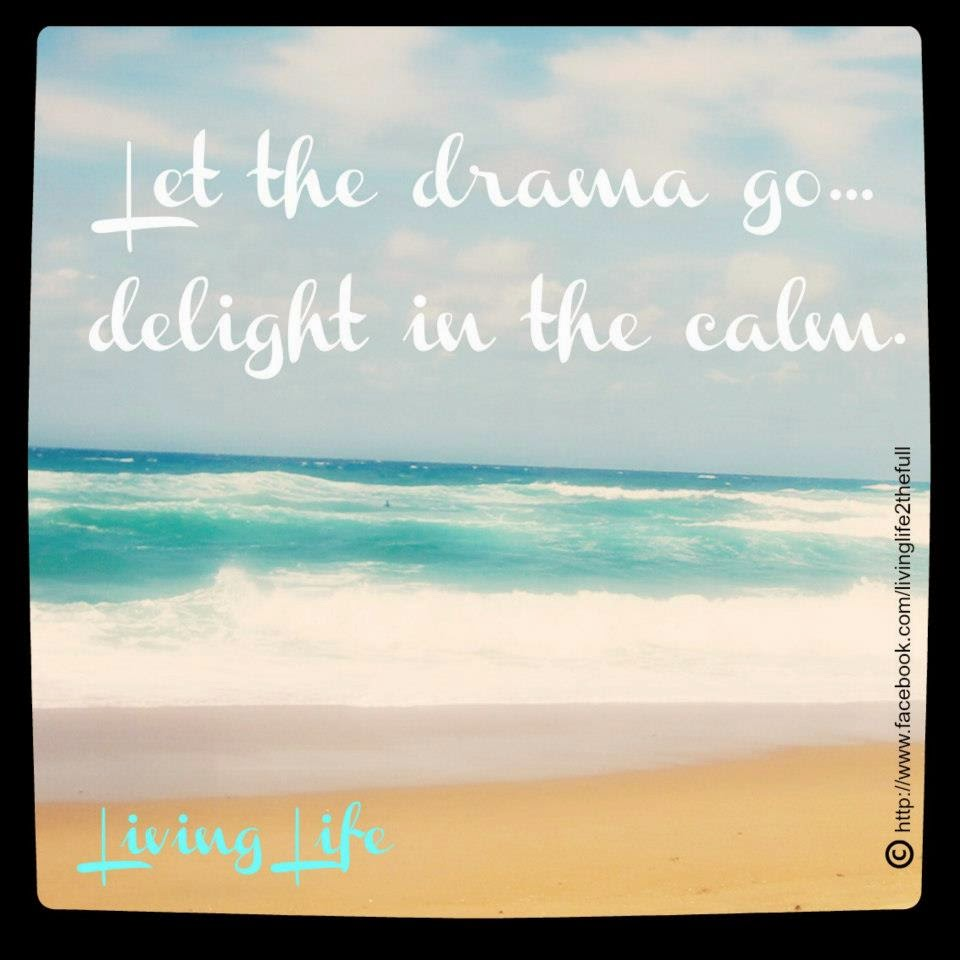 Let The Drama Go Delight In The Calm Quotes