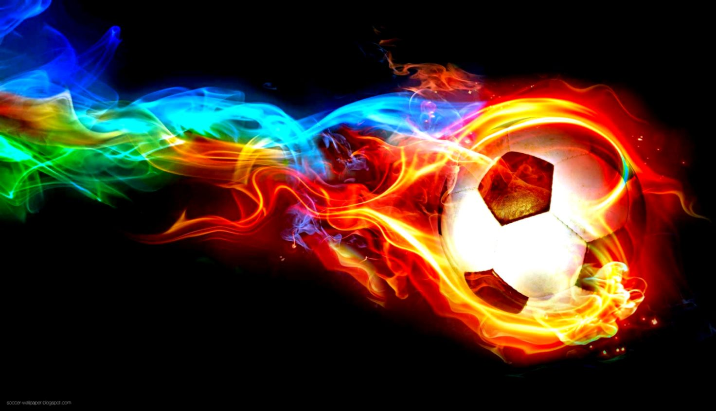Burning Soccer Ball Wallpaper