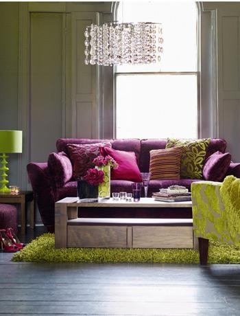 Top 28 purple green living room cores para sala de for Purple and green living room ideas