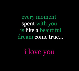 every moment like sweet dream Love Quote and Saying