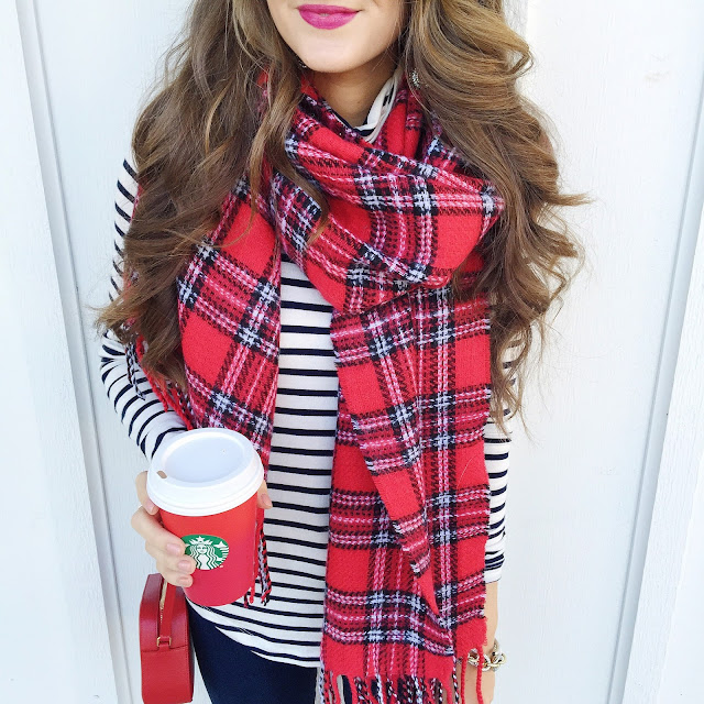 Stripes and plaid outfit