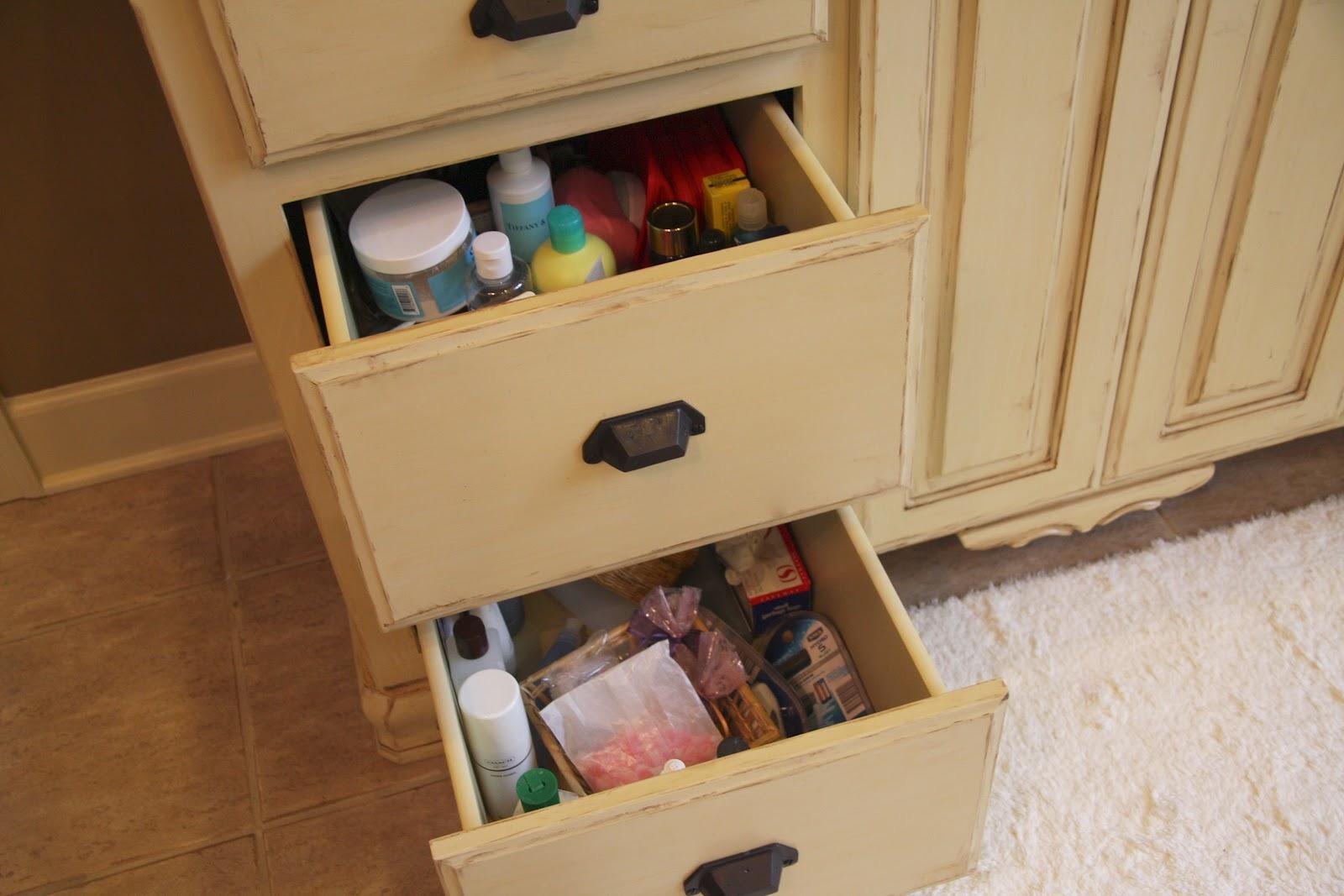 Bathroom Drawers Simply Organized