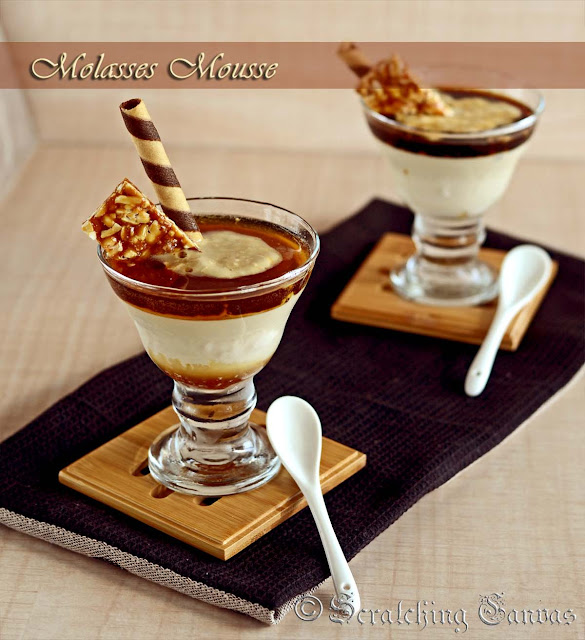 Eggless Sugarless Molasses Mousse
