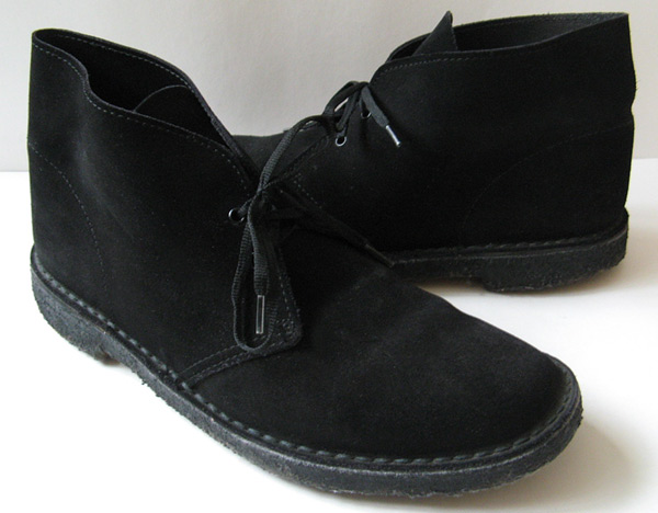 clarks black suede boots