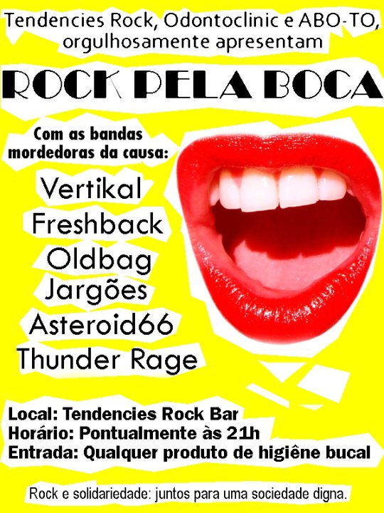 Rock Pela boca - Evento Beneficente