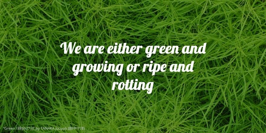 Growing vs Aging