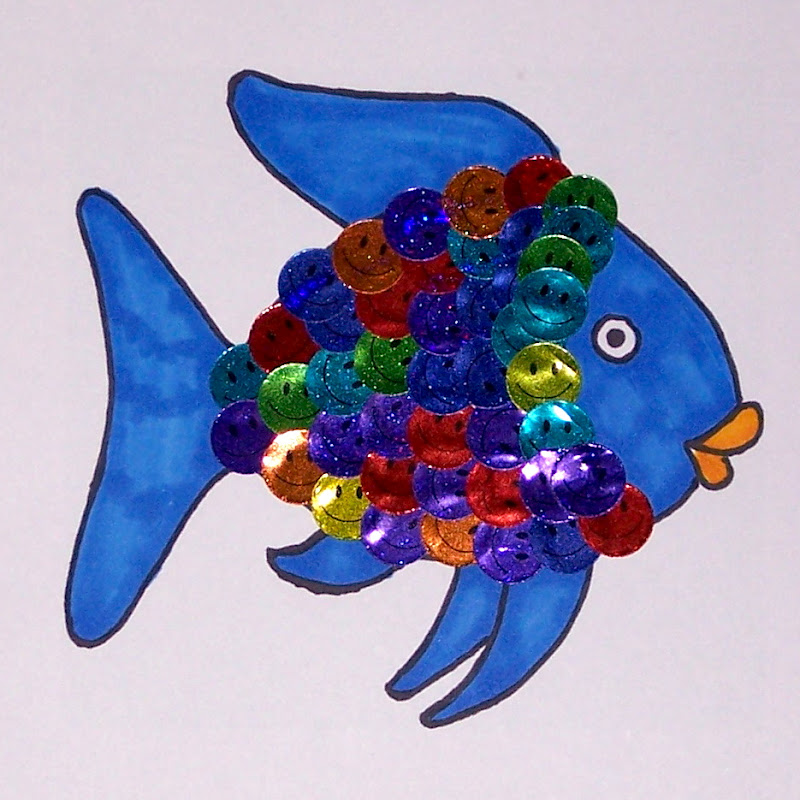 The princess and the tot rainbow fish trays for The rainbow fish