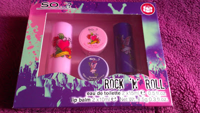 So... Rock 'n' Roll eau de toilette and lip balm set boxed