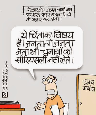 election commission, sharad Pawar cartoon, voter, election 2014 cartoons, cartoons on politics, indian political cartoon