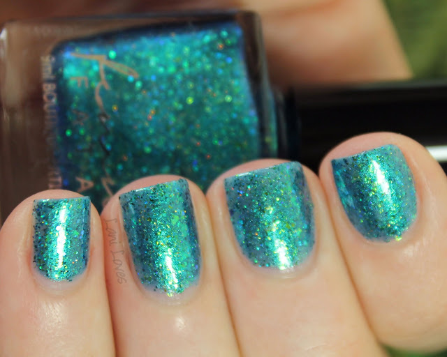 Femme Fatale Cosmetics Jewels From The Deep nail polish Swatches & Review