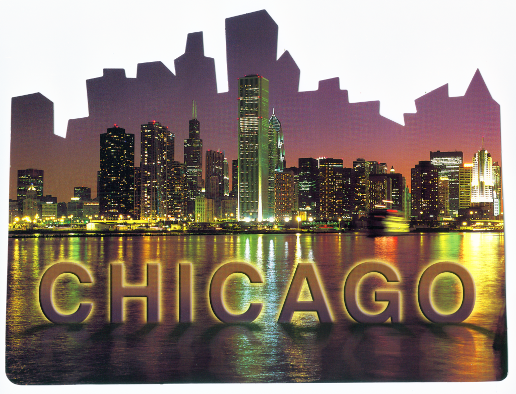 Image result for Chicago Skyline with words
