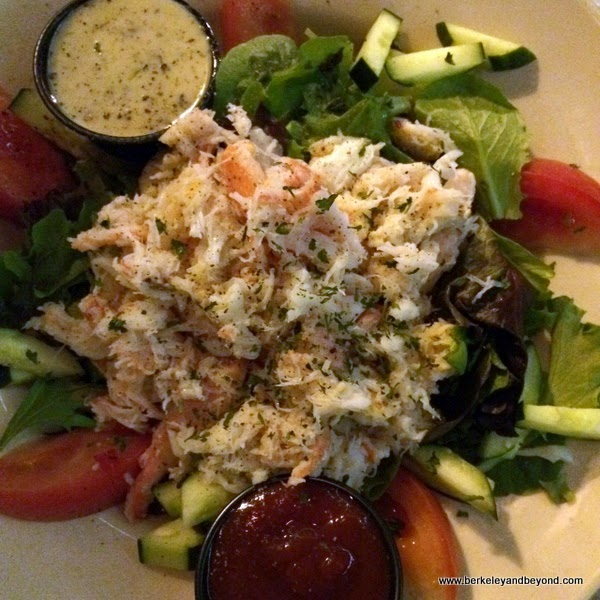 Dungeness crab salad at Olde Port Inn on Harford Pier in Avila Beach, California