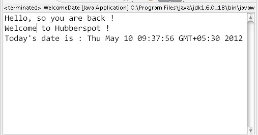 how to get date java