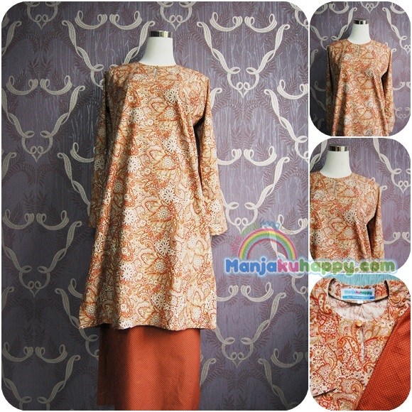 Baju sedondon ibu dan anak -coffee brown paisley
