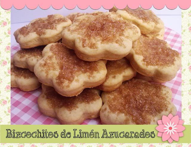 bizcochitos de limón azucarados
