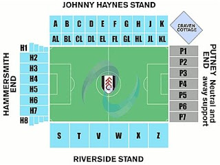 Craven Cottage Stadium seating chart