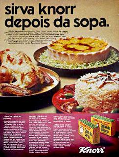 propaganda caldo Knorr - 1970; 1970; história da década de 70; propaganda nos anos 70; reclame anos 70; Brazil in the 70s; Oswaldo Hernandez;