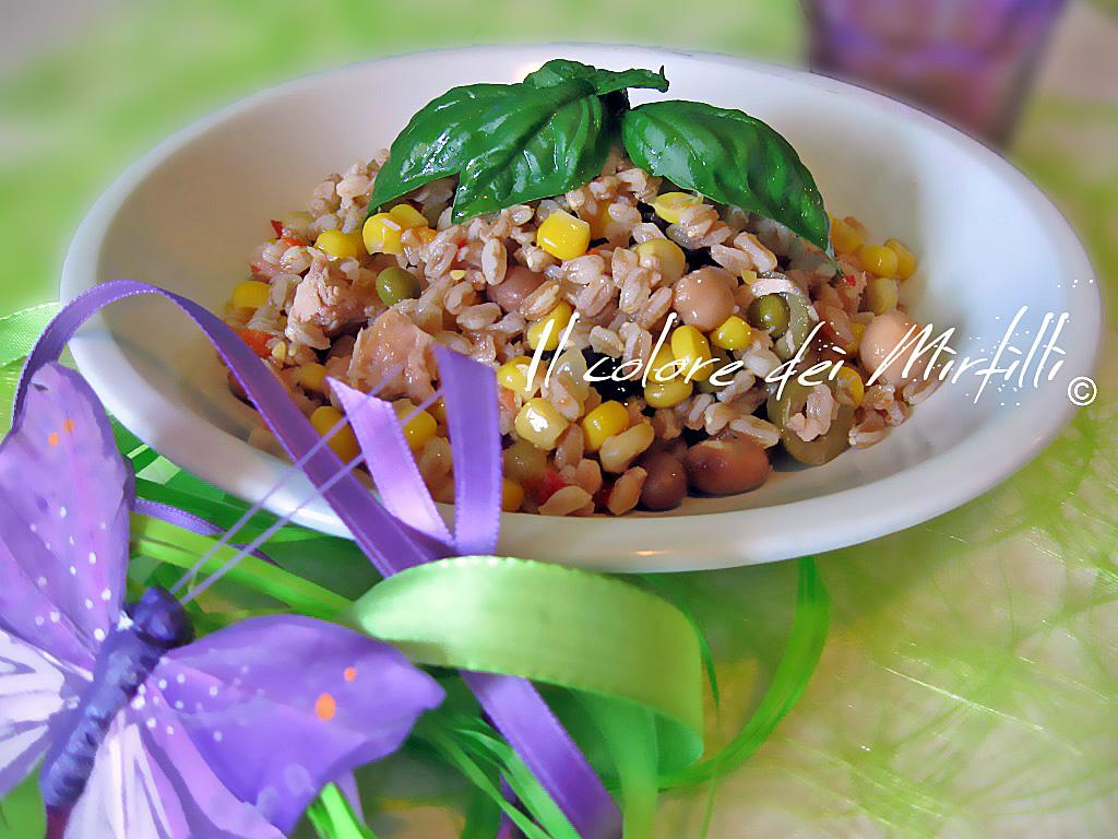 insalata di farro, insalata, farro, piatti veloci, facile, ricette estive, light, leggero