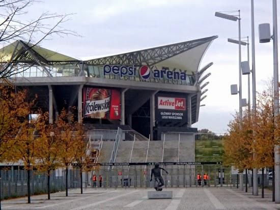 Wejście na stadion Legii przed meczem z Apollonem - fot. Tomasz Janus / sportnaukowo.pl