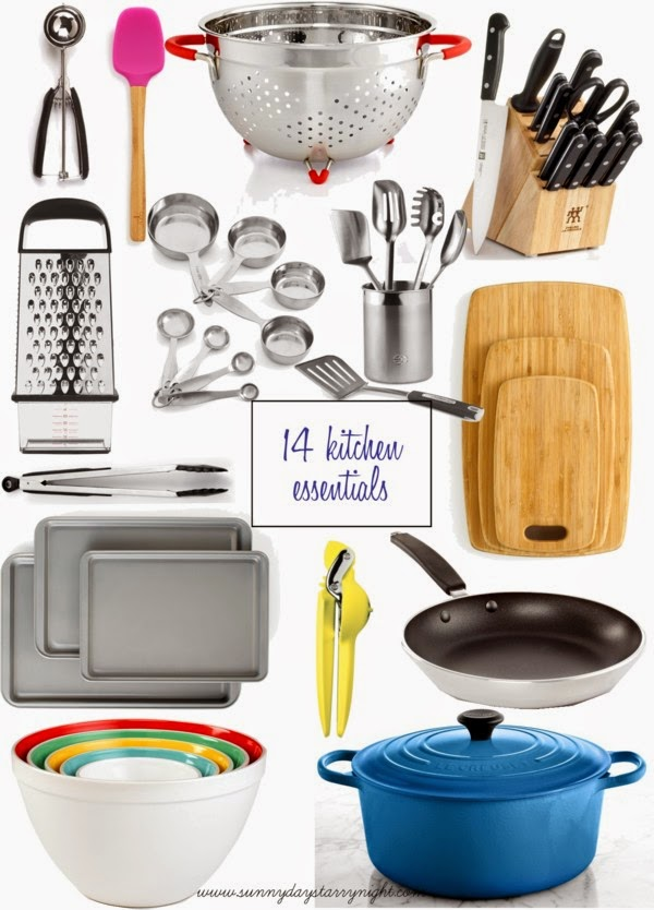 Kitchen Needs 14 kitchen essentials everyone should own |sunny days & starry nights