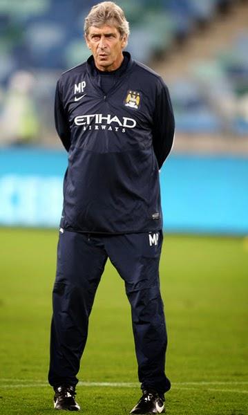 Manuel Pellegrini Manchester City Manager of Barclays Premier League