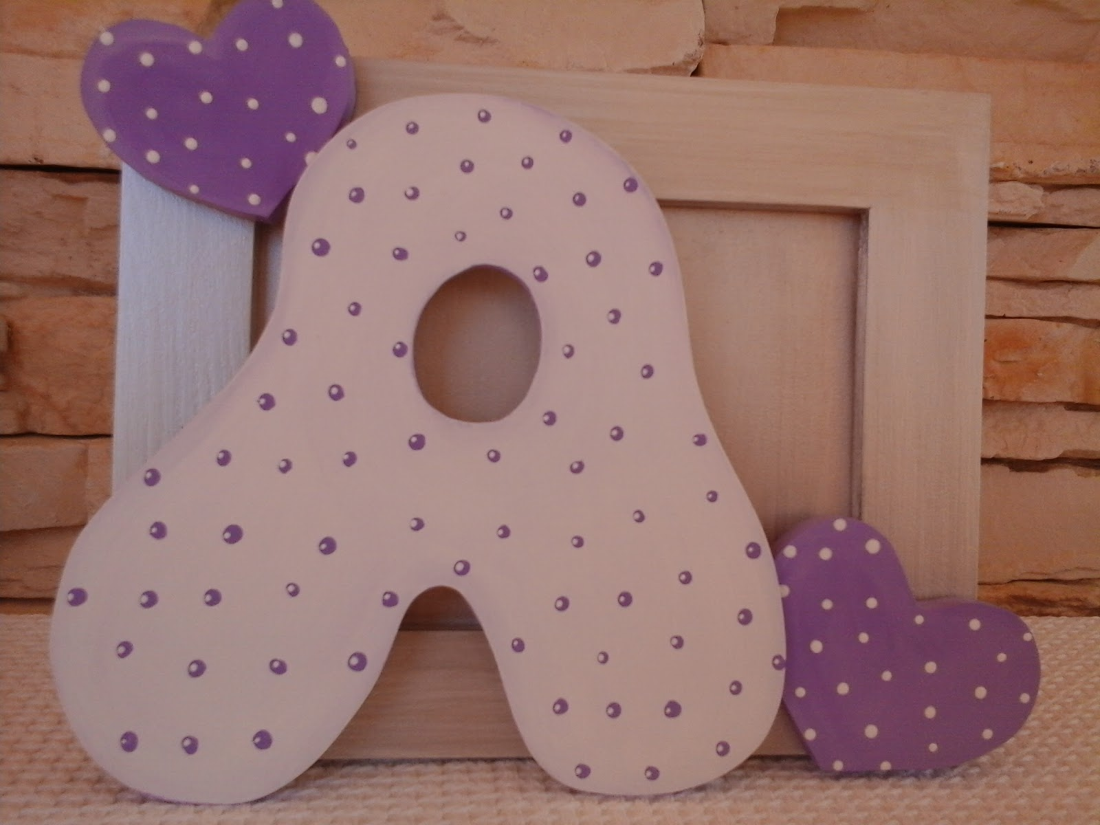 Decoraci n infantil pekerines letras de madera decoradas - Letras bebe decoracion ...