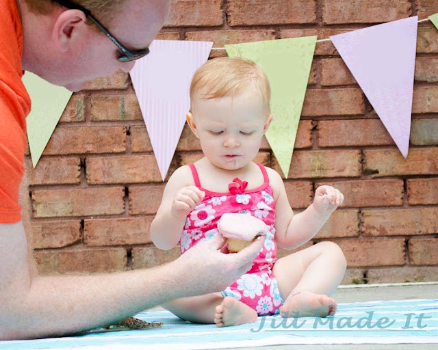 One Year Old Birthday Party:  Unenthusiastic Cake Smash