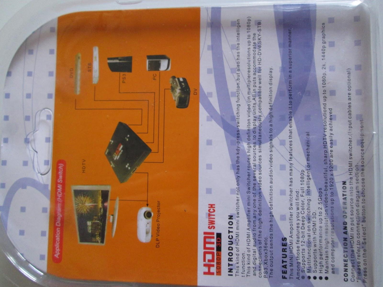 solaire et eolien mini switch multiprise hdmi 3 ports ebay. Black Bedroom Furniture Sets. Home Design Ideas