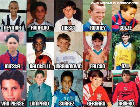 Soccer stars childhood photos