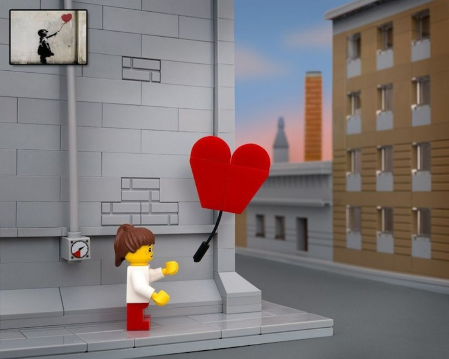 Obras de Lego estilo Bansky