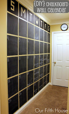 5. {DIY} Chalkboard Wall Calendar