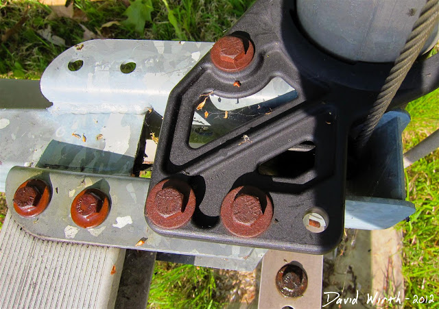 rusted bolts aluminum steel boat hoist shore station loosen