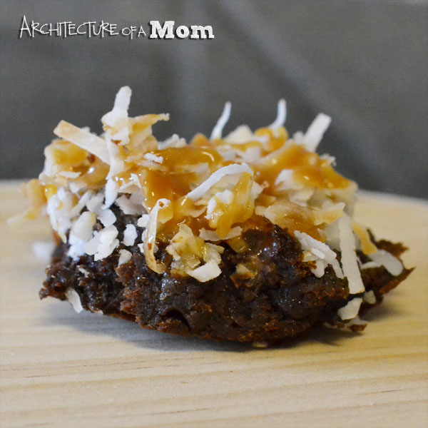 Secret Ingredient Samoa Brownies