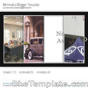 Minimatica blogger template. minimalist design blogger template