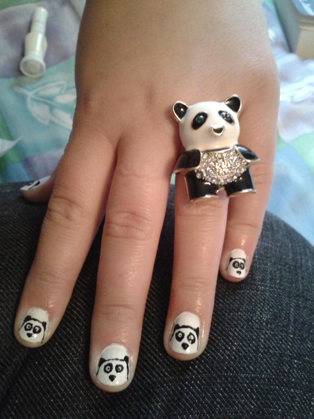 always trust the gene genie: Panda Nail Art