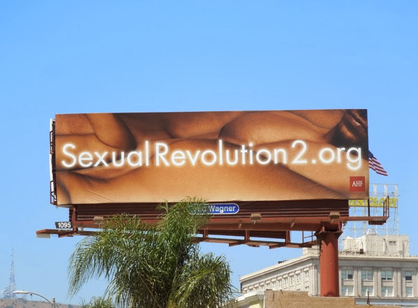 Sexual Revolution 2 AHF safe sex billboard