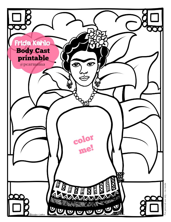 creativitylizette: Friday Frida Favs: Free Frida Kahlo Printables ...