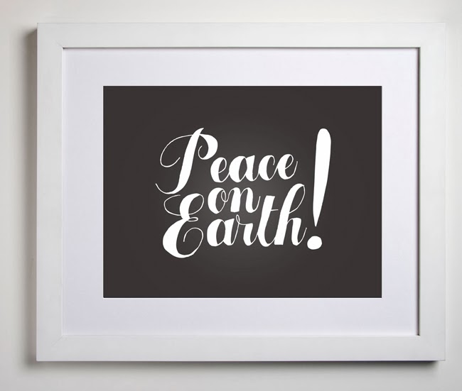 Free Peace On Earth Printable