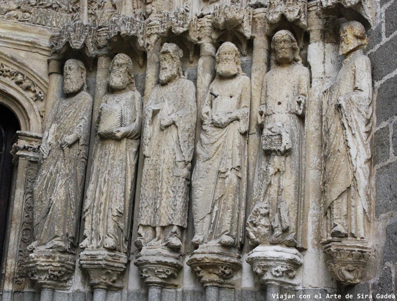 Portada Apóstoles Catedral Ávila