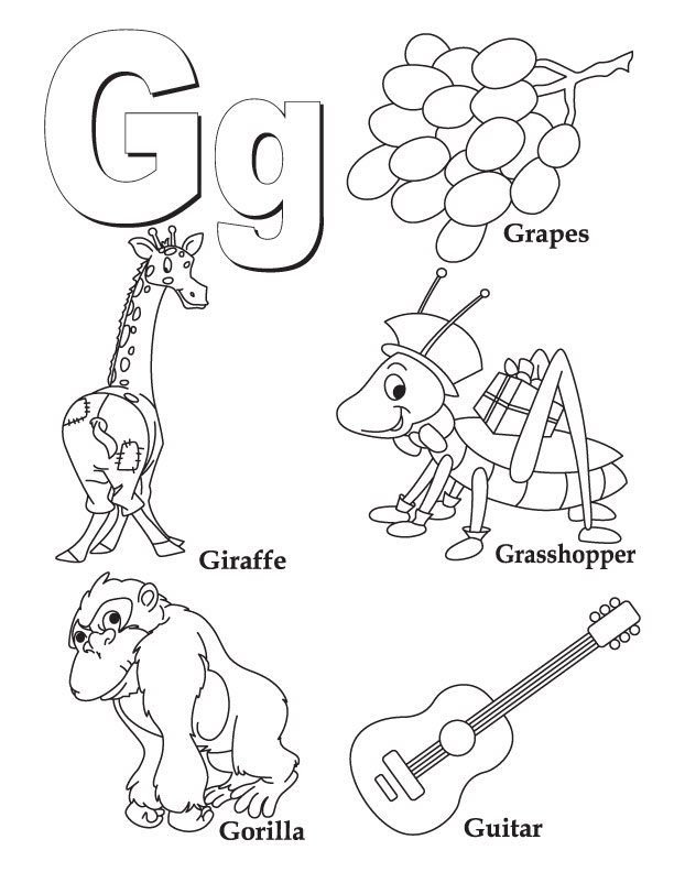 g coloring pages for kids - photo #1