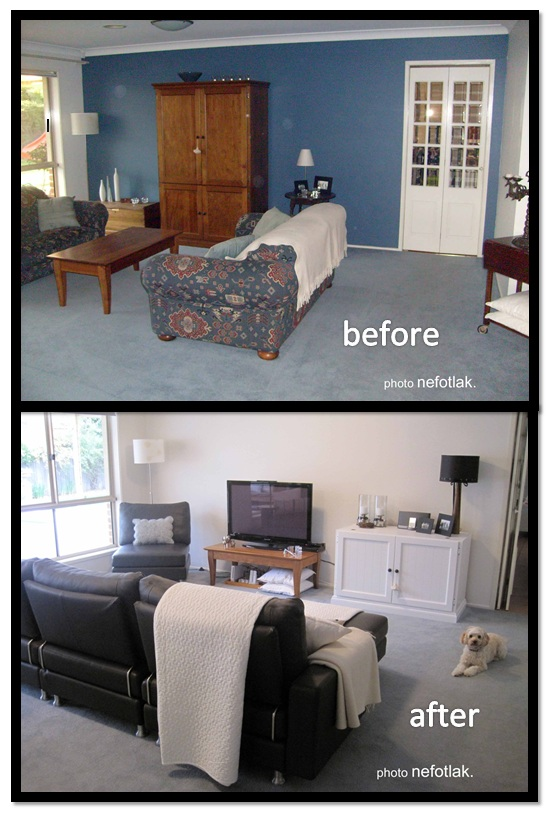 Nefotlak lounge room makeover before after photos for Lounge makeover ideas